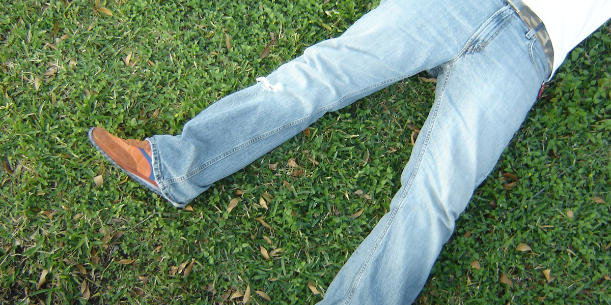 jeans in the grass